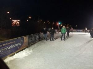 Die Eisbahn am Allee-Center Magdeburg