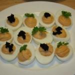 Original gefüllte Eier
