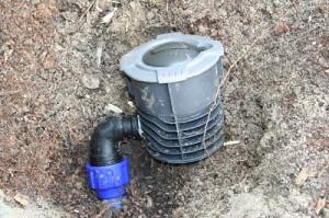 Wassersteckdose beim Einbau