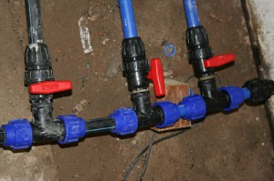 Wasserverteilung Hauswasserwerk